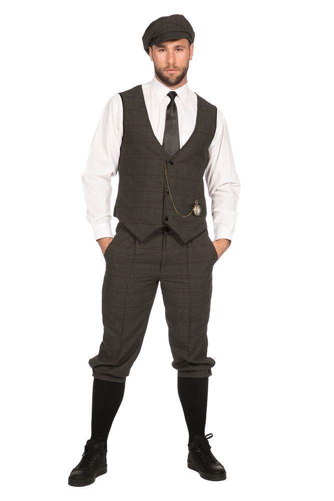 20er Jahre Peaky Blinders Anzug Knickerbocker Herren Kostum Oliv Schwarz 20er Jahre Kostum Herren Kostum 20er Jahre Mode