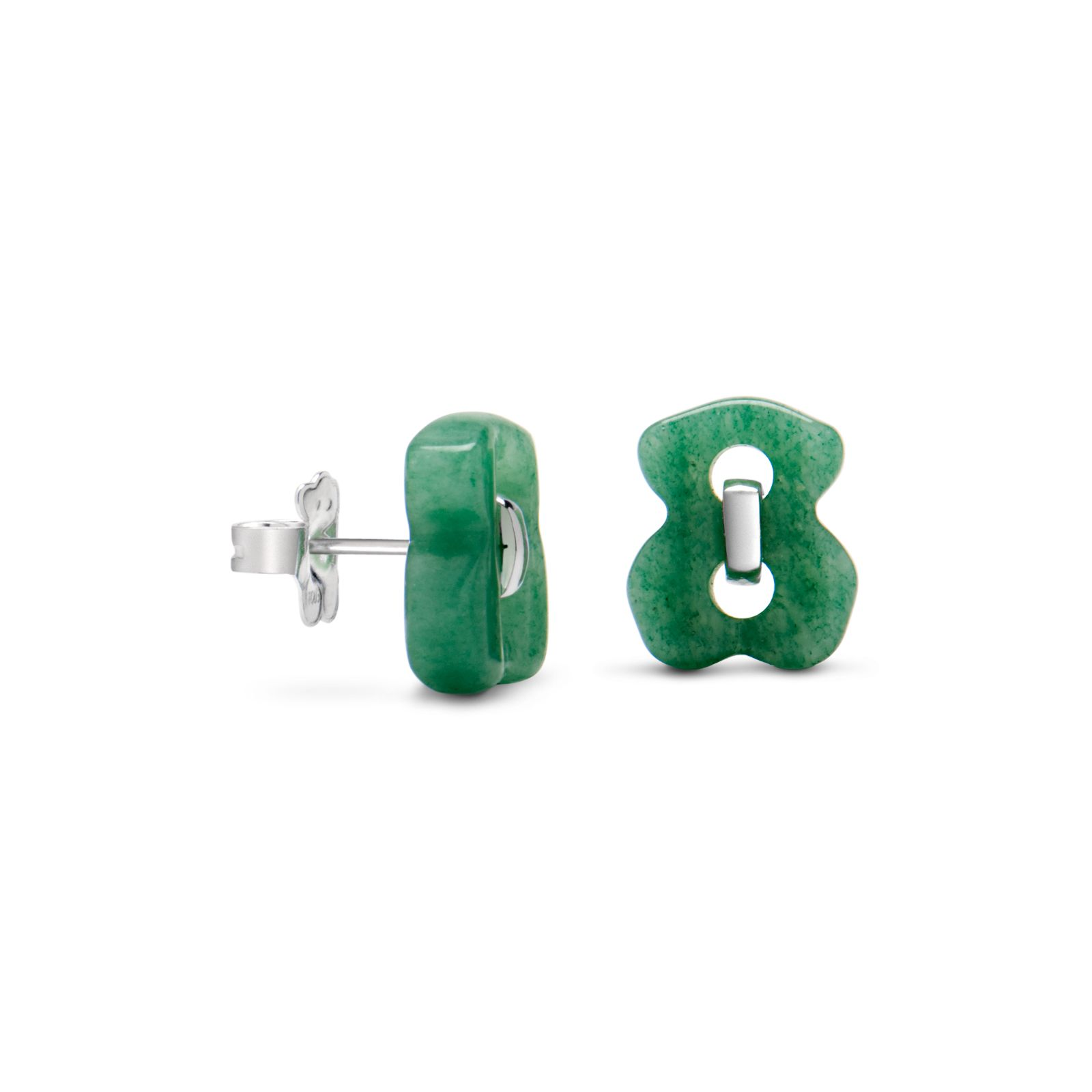 Sterling silver TOUS Cruise earrings with aventurine. TOUS ...