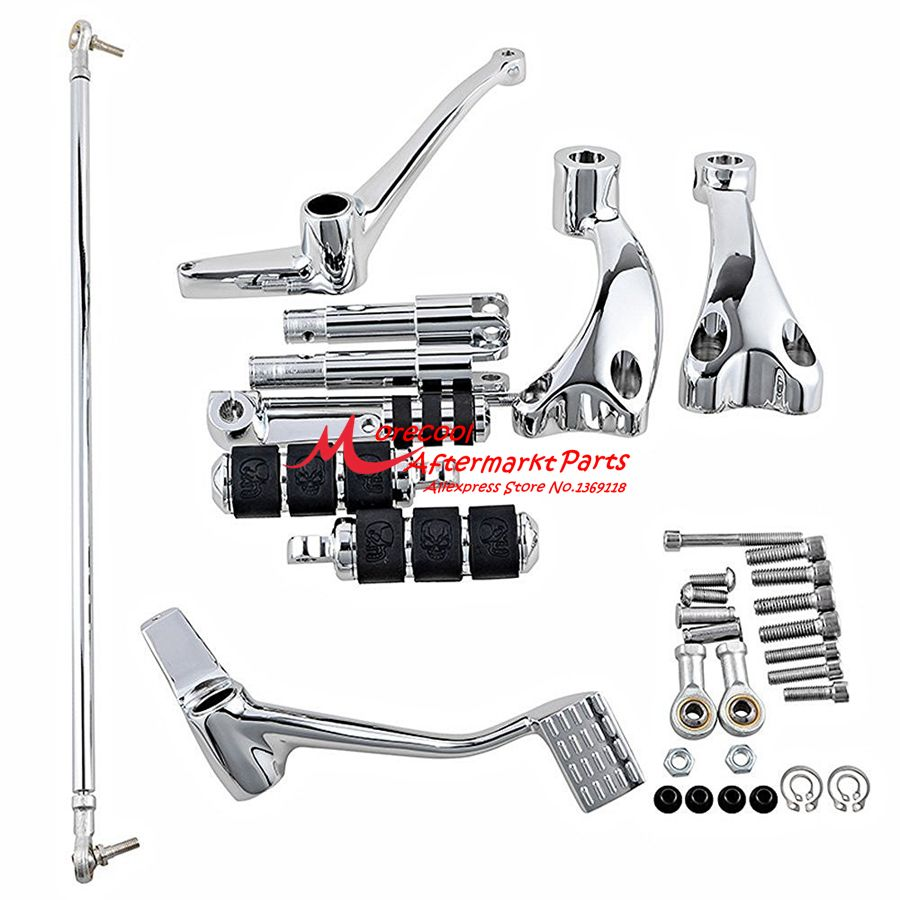 Chrome Forward Controls Pegs Levers Linkages For Harley
