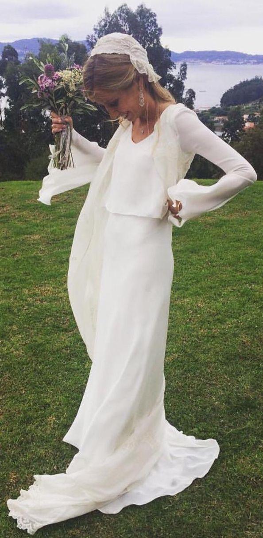 vestido ines martin alcalde ºxº | lace weddings en 2019 | pinterest
