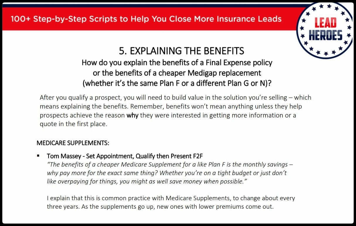 100 Scripts Tips Ch 5 How Do You Explain The Benefits