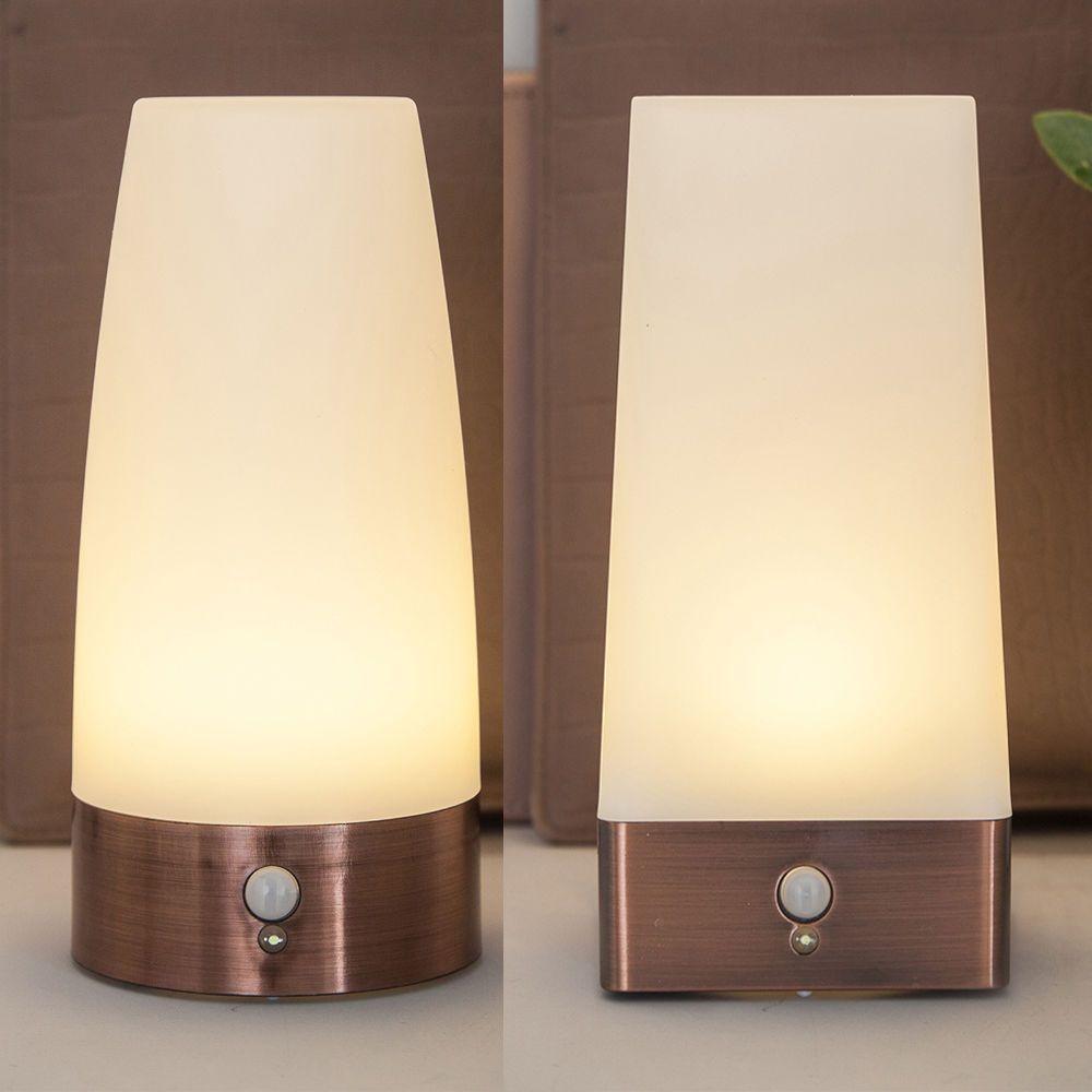 Battery Operated Wireless Indoor Pir Motion Sensor Led Night Light Table Lamp Led Night Light Motion Sensor Lights Outdoor Lamp