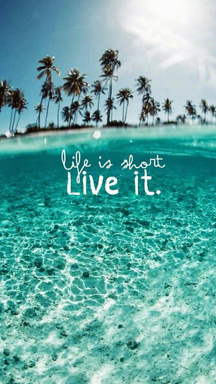 Beach tropical summer quotes paradise Cute girl