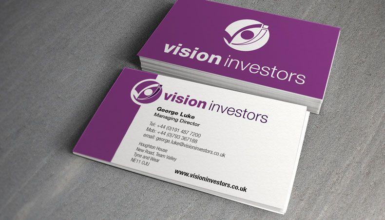 Vision Investors Logo Design Ghost Keys Credit Card Design Business Investors Logo Design