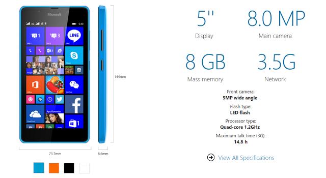Microsoft Lumia 540 Price in India on Flipkart,Amazon