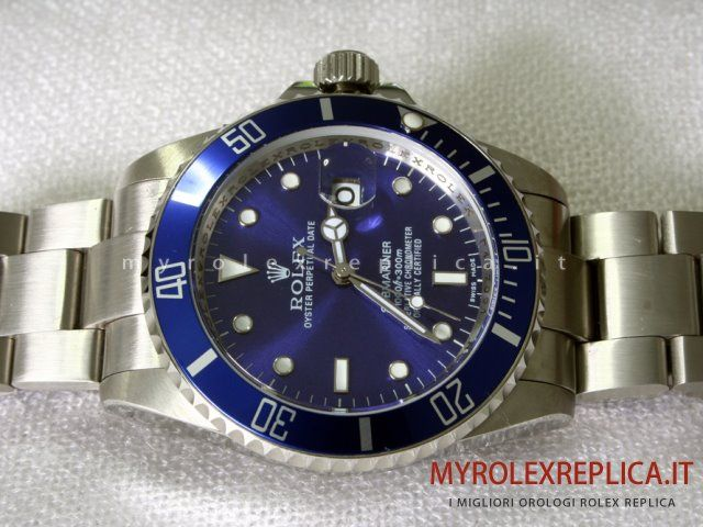 Rolex Submariner Date Replica Quadrante Blu