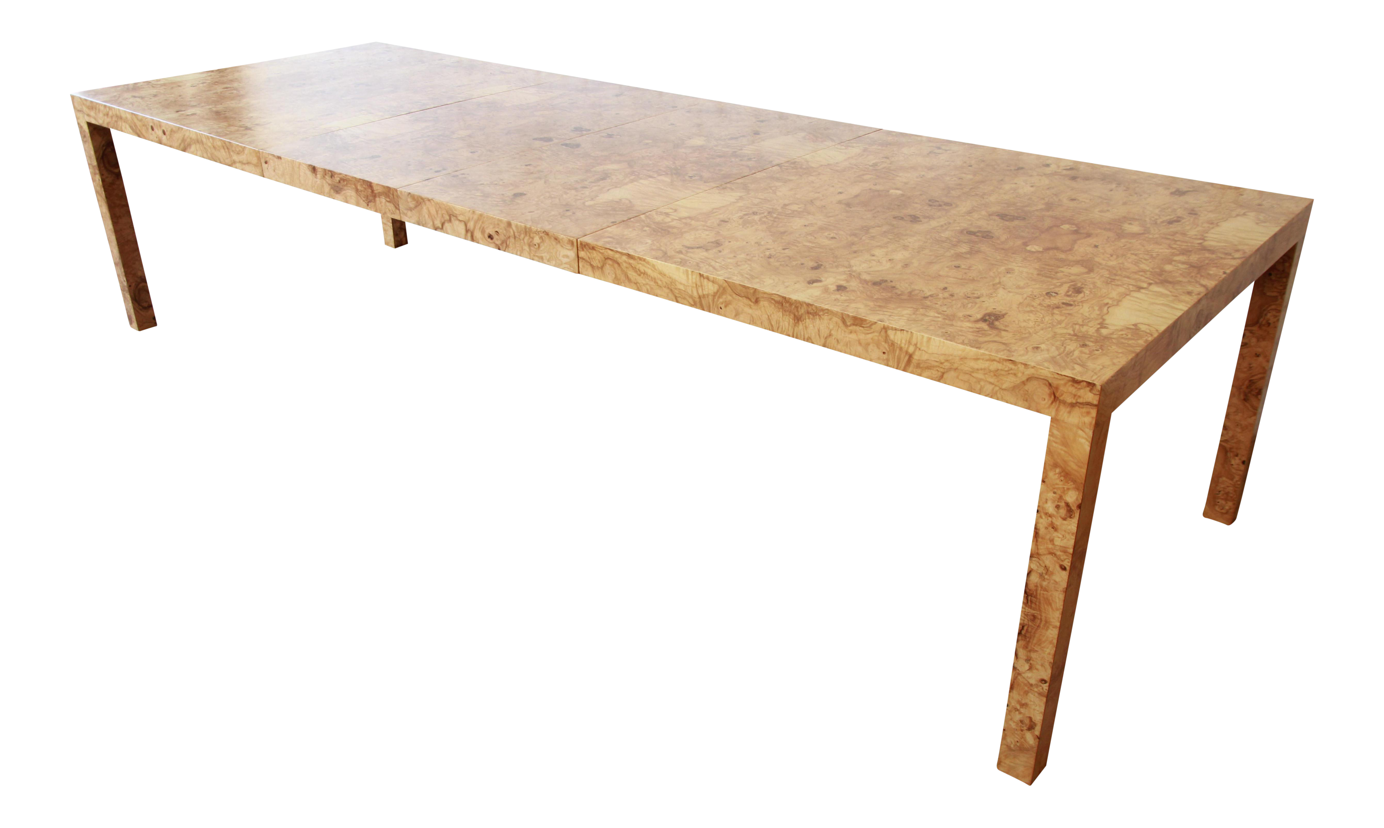 Milo Baughman For Directional Burl Wood Parsons Extension Dining Table On Decaso Com Dining Table Extension Dining Table Burled Wood