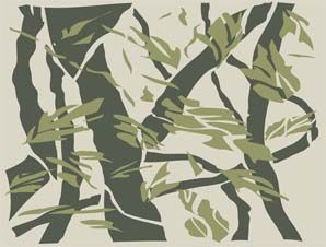 hunting camouflage pattern stencils | tree camo pattern added in boat truck hunting camo painting stencils ...