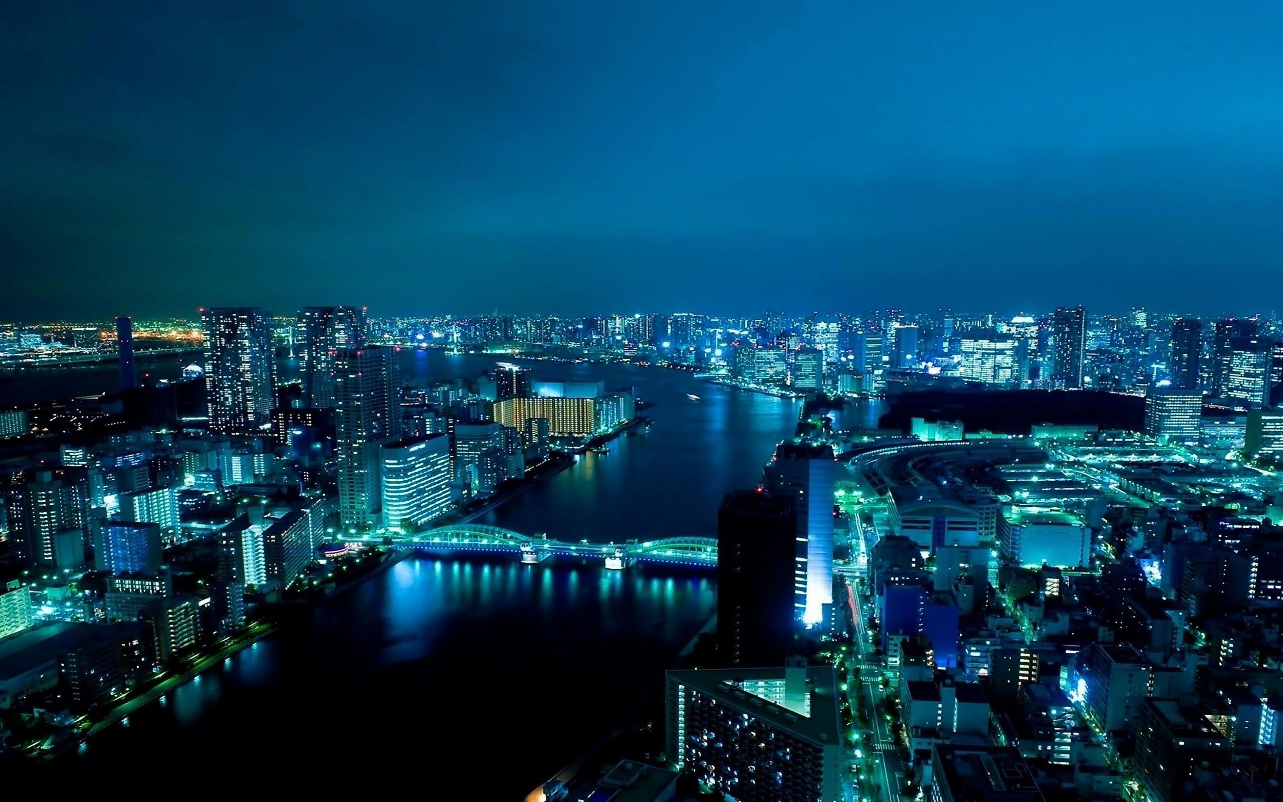 japan tokyo | nighttime view of the Tokyo waterfront, with Eitai Bridge in the .
