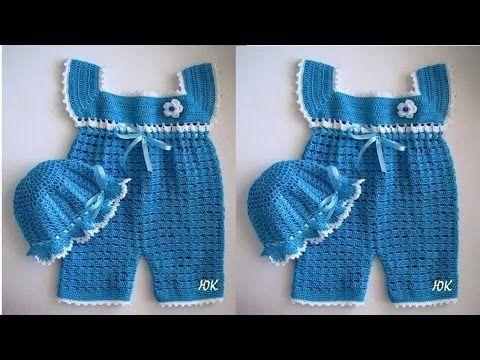 Jardineras Para Bebes Tejidos A Crochet Youtube Maiô De Crochê Infantil Roupas De Crochê Crochê Para Meninos