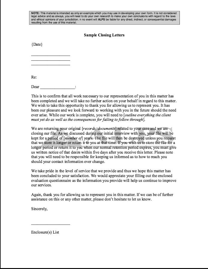 2 Sample Closing Letter - http://resumesdesign.com/2-sample-closing ...