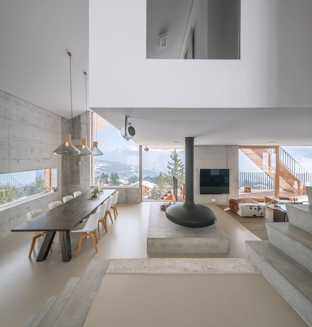 Décoration de chalet moderne et minimaliste | Interiores, Casas ...