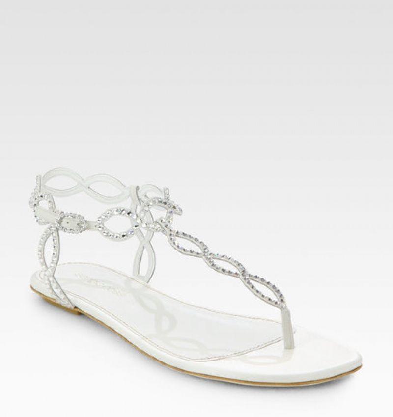 Simply White Flat Sandals Wedding Bridal Sandals Wedding Shoes