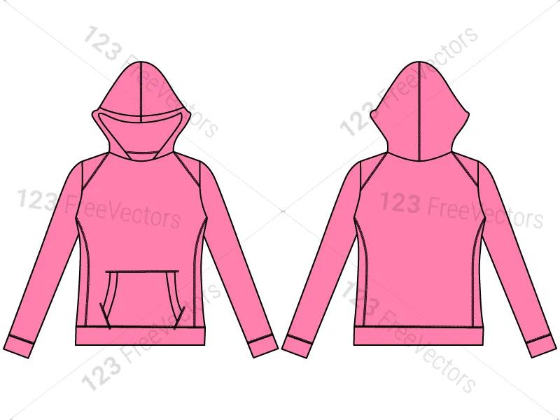 Women S Hoodies Sweatshirts Template Vector And Psd Pack 01 Sweatshirts Hoodie Sweatshirts Women Hoodies Sweatshirts