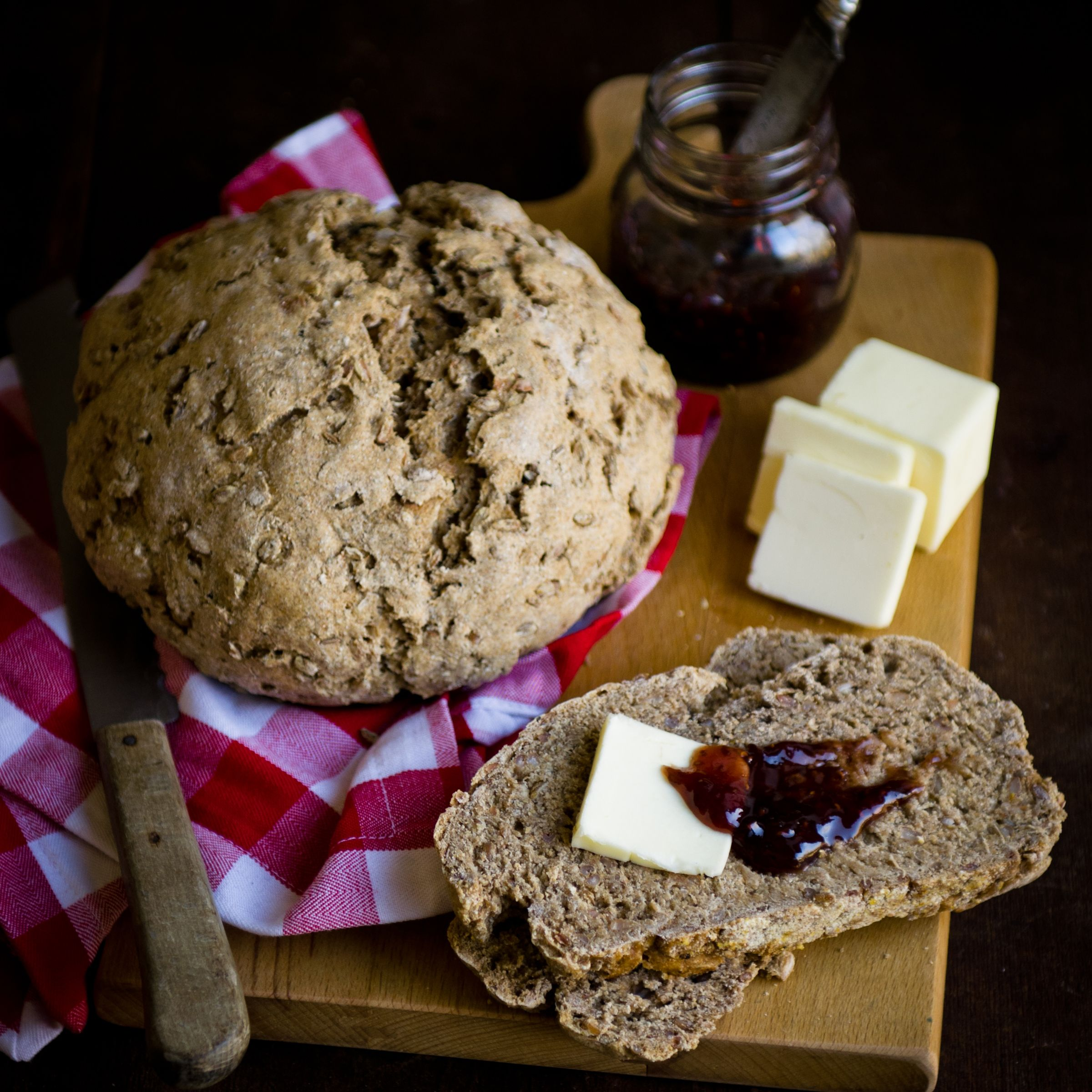 Rye berry bread recipe bread food smoked salmon and sour cream rye berry bread forumfinder Image collections