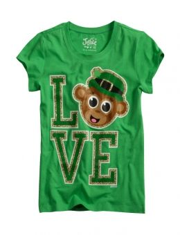 st patrick s day monkey graphic tee justice luck of the irish rh pinterest co uk