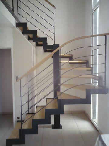 Escalier metallique nantes loire atlantique escalier metal - Escalier contemporain beton ...