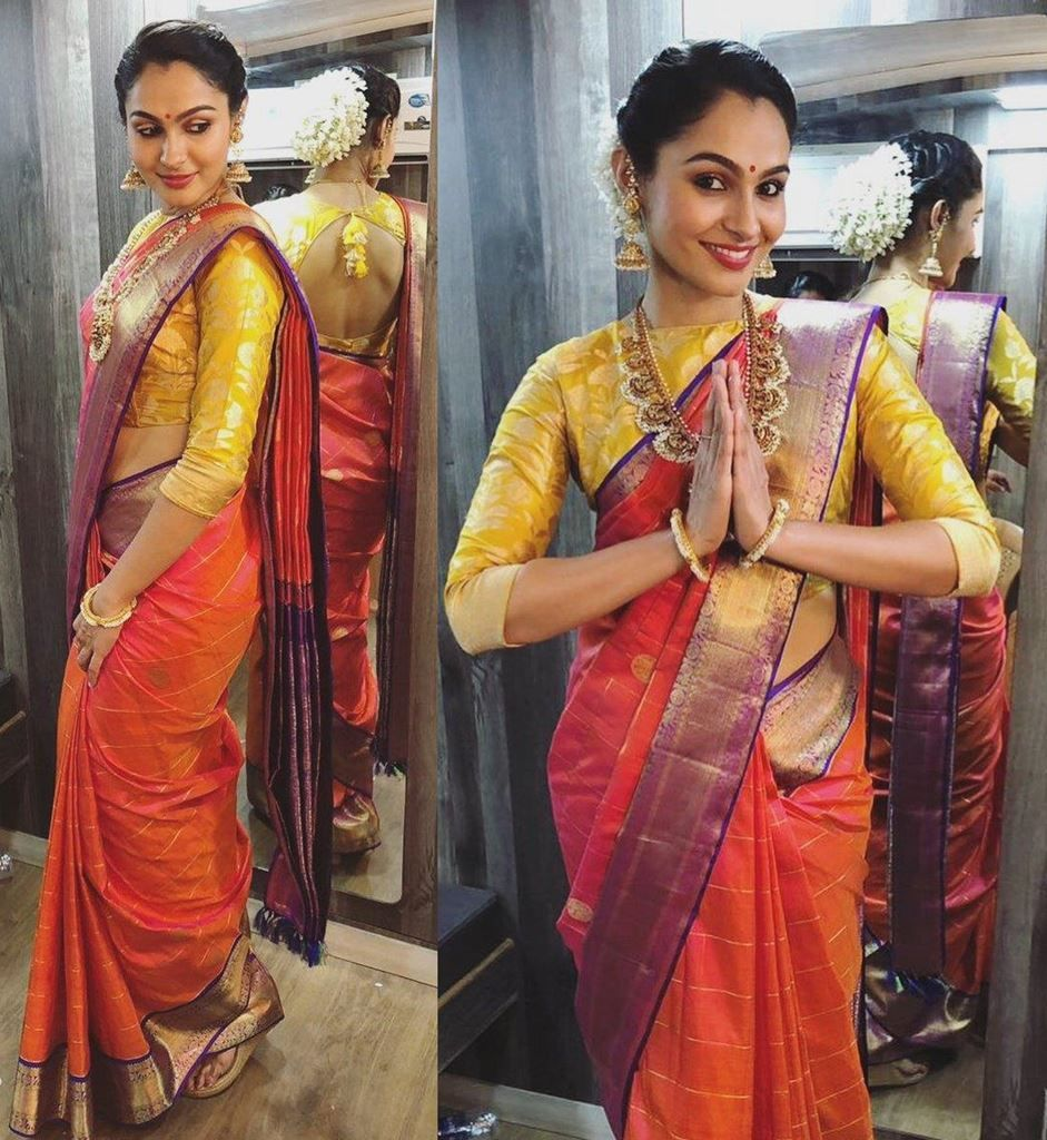 Traditional Blouse Design Actress