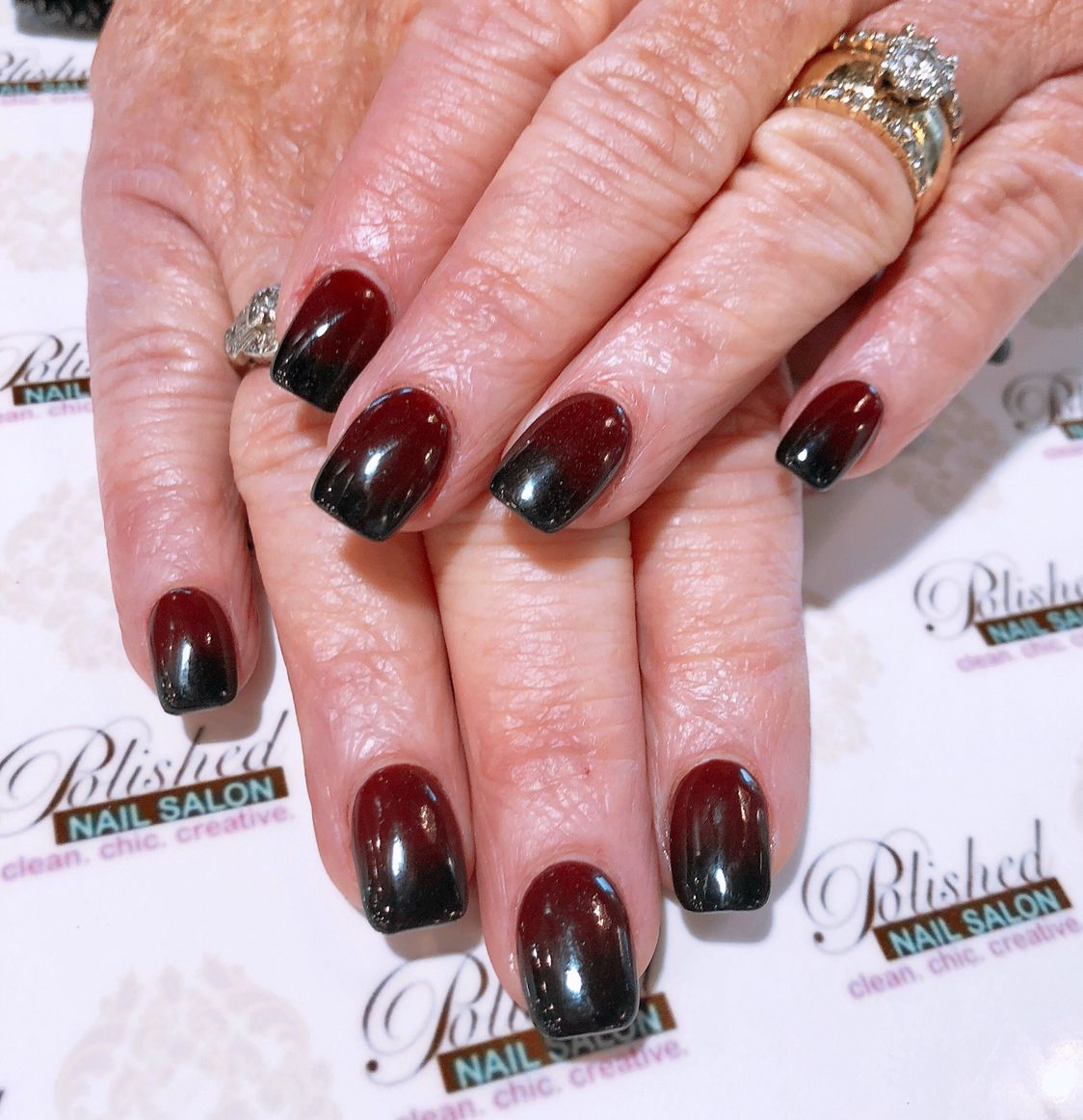 Black And Red Ombre Red Nails Dip Nail Colors Nails
