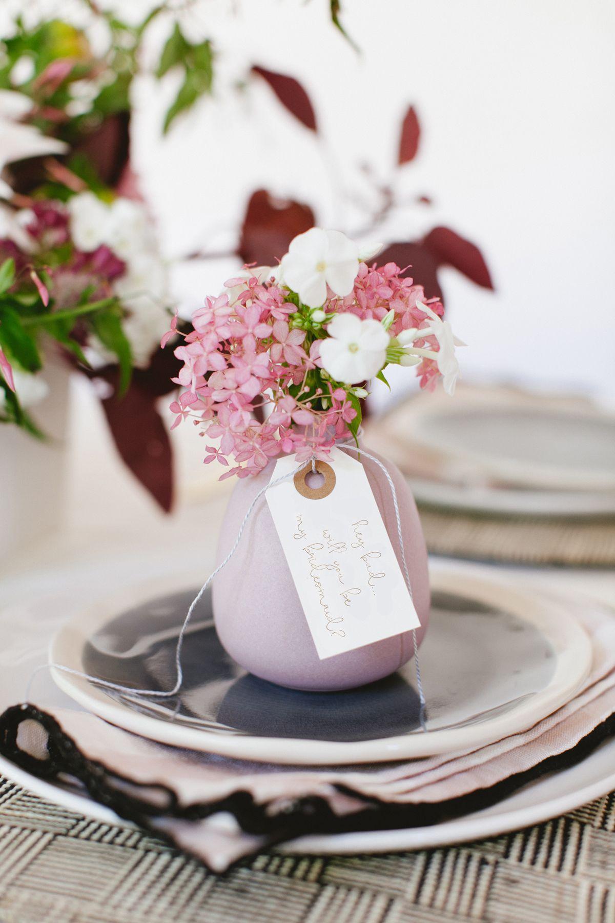 a bud vase makes a perfect bridesmaid gift | coco kelley wedding brunch