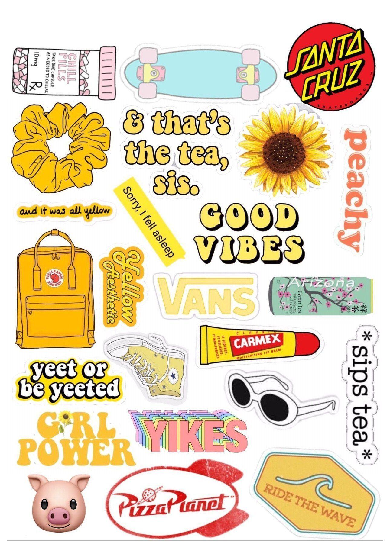 Yellow Aesthetic Stickers