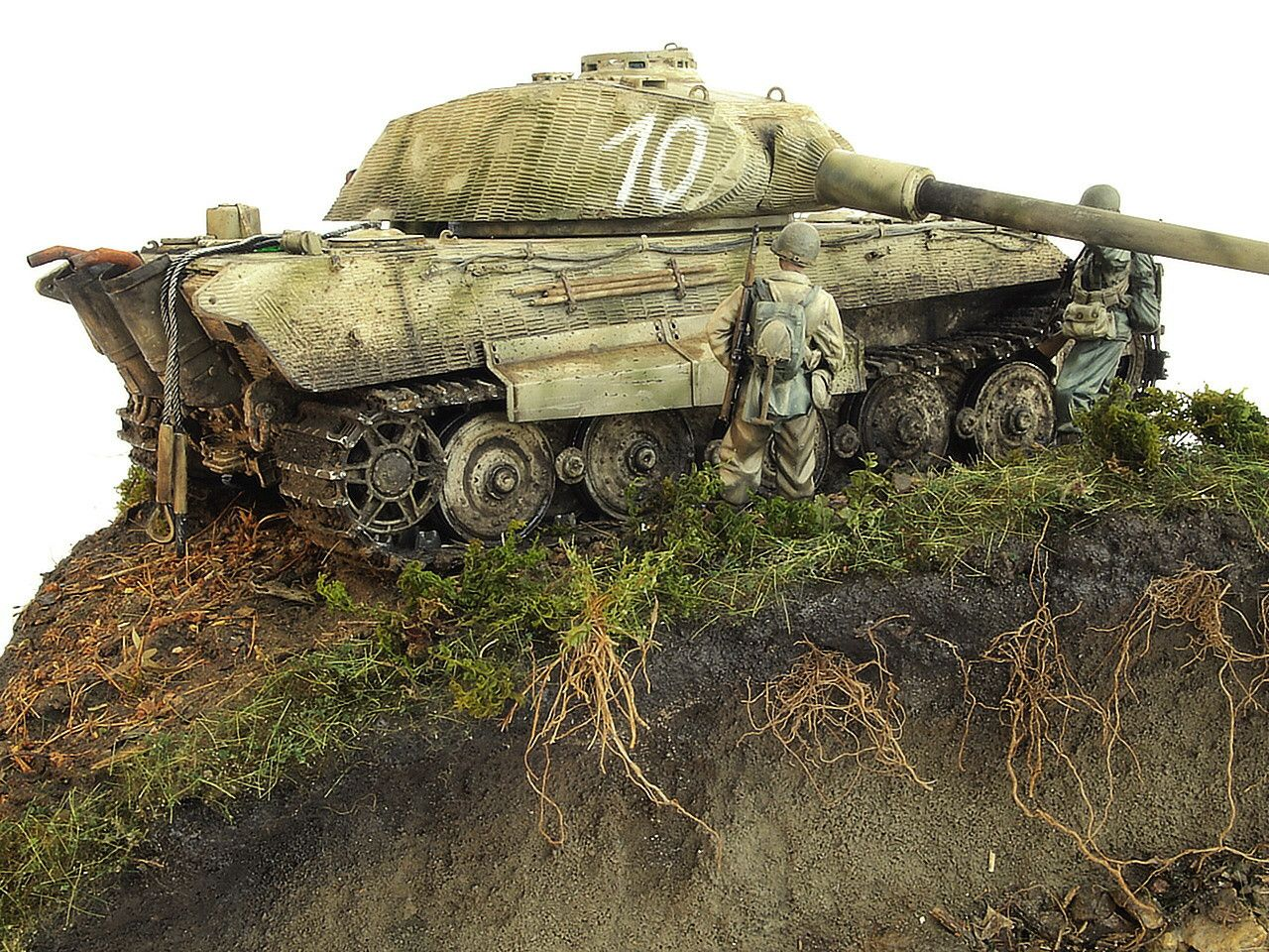 Plastic Model King Tiger Porsche Panzerkompanie 316 Dragon