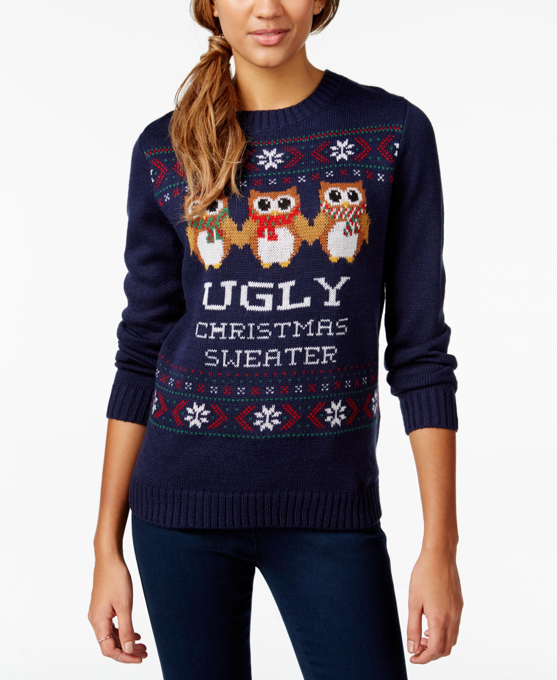 Belle Du Jour Juniors\' Ugly Christmas Pullover Sweater | Christmas ...