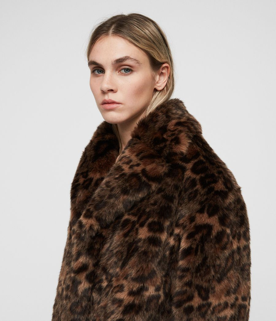 675b3a61853b Amice Leopard Jacket. Inspired by vintage coats, the Amice Leopard Jacket  is crafted from textured faux fur in