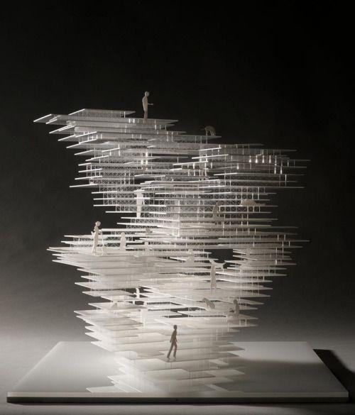 Primitive Future House Maquette Sou Fujimoto Architects 2003