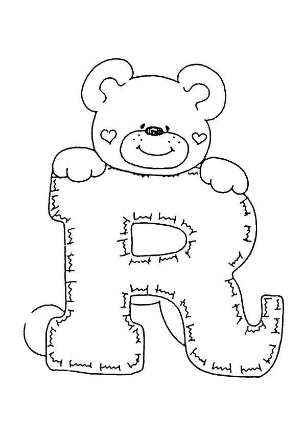 Buchstaben R Ausmalbilder Und Malvorlagen Stickerei Alphabet Ausmalbilder Buchstaben Schablone