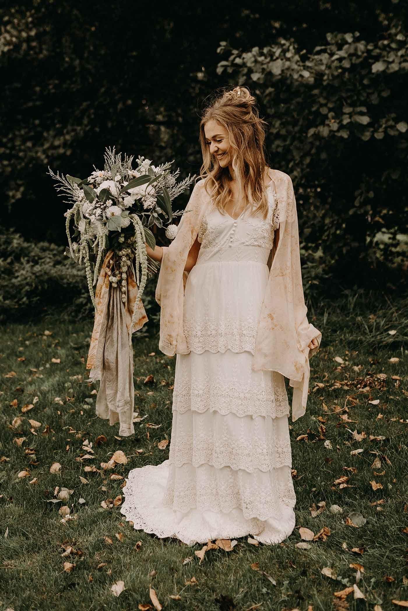 Party clothing Macrame boho wedding dress