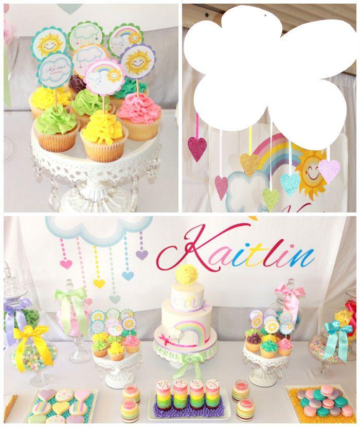 Pastel Rainbow 3rd Birthday Party Via Karas Ideas KarasPartyIdeas Supplies Cake