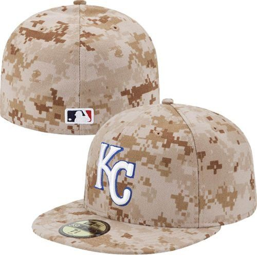 Kansas City Royals New Era Camo Fitted Hat  19167c88918