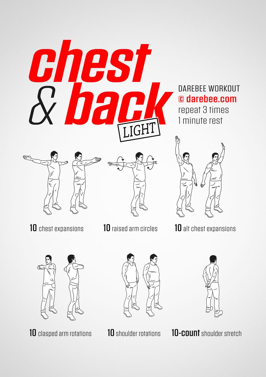 Chest & Back workout. Chest and back workout, Bodyweight