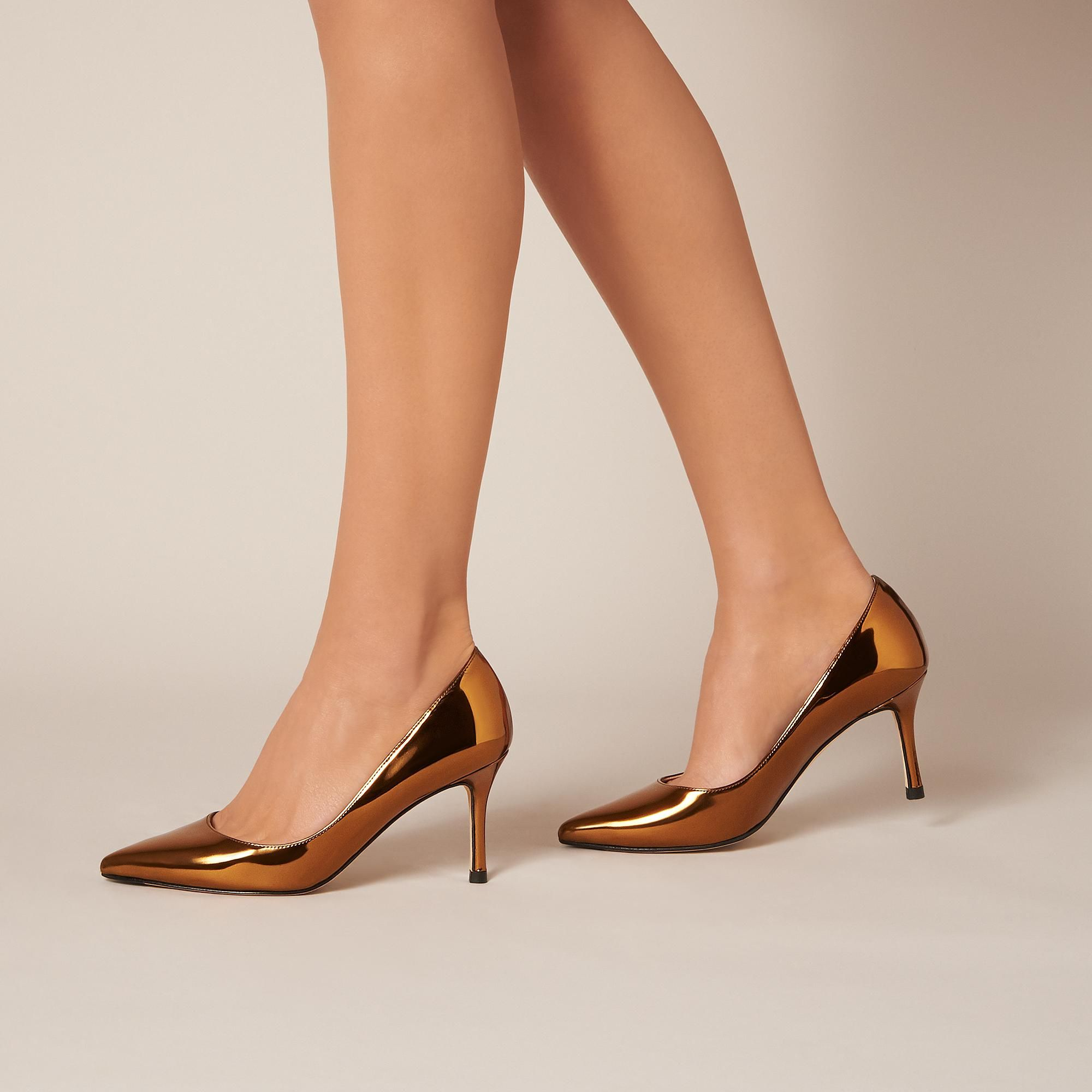 7db04997ddad Bianca Gold Closed Courts | Shoes | L.K.Bennett | Kitten heels ...