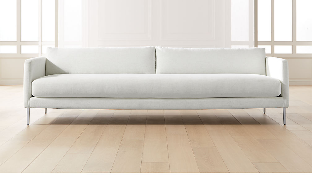 Midtown Linen Slim Sofa Cb2 Slim Sofa Linen Sofa Modern Sofa