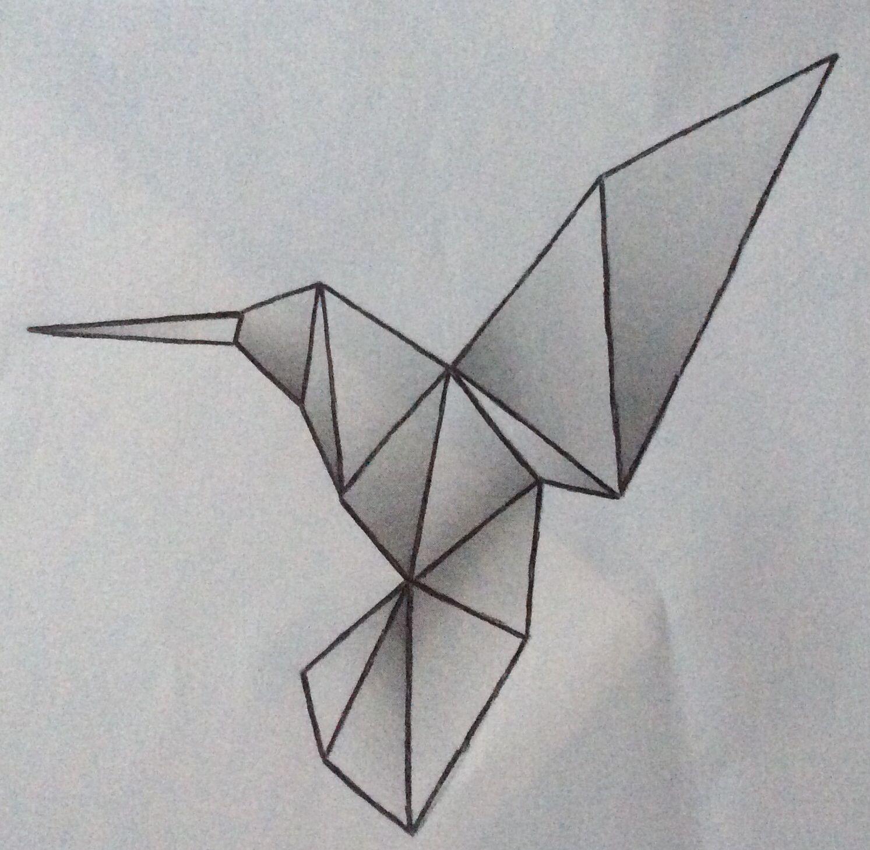 Hummingbird origami   favorites tattoo's   Pinterest - photo#18