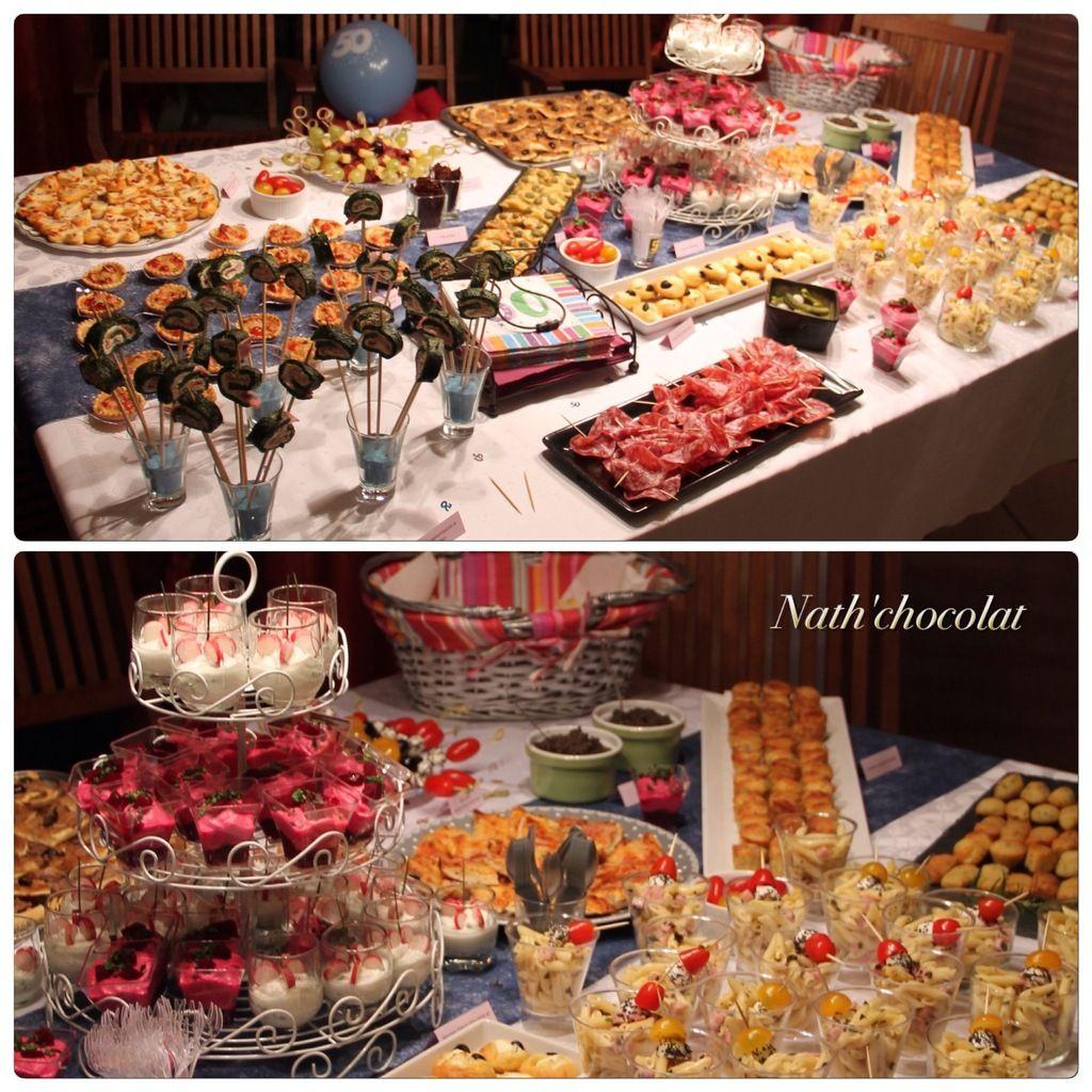 buffet dinatoire sale nath chocolat