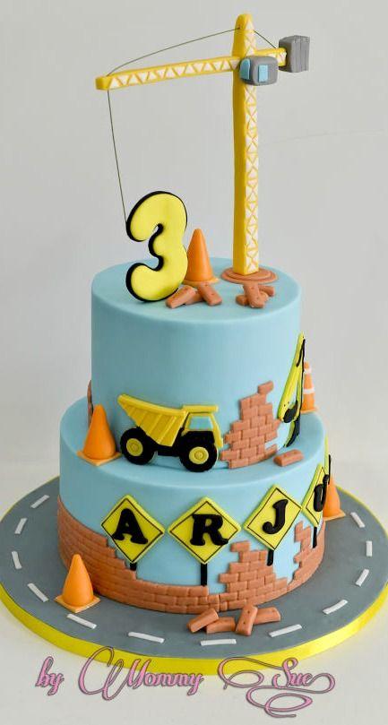 Gâteau Chantier Anniversaire Travaux Pinterest Taart Cake Et
