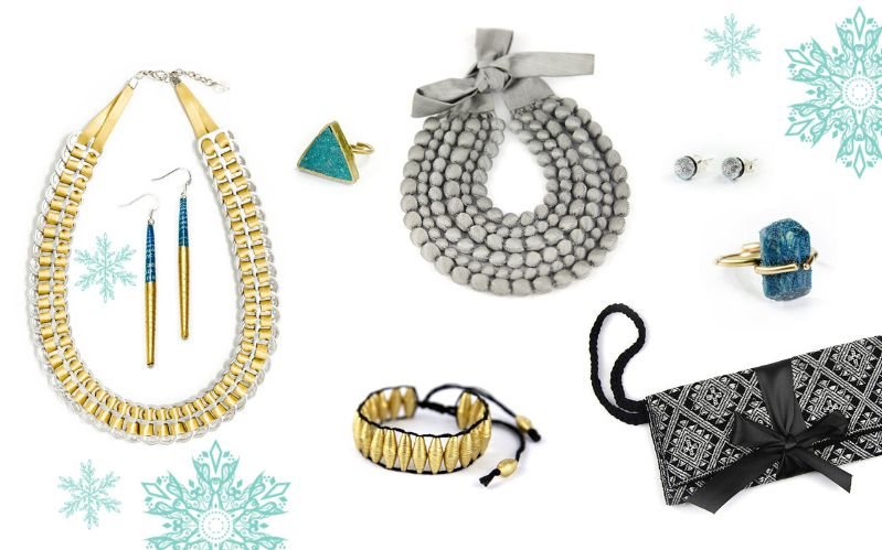 Glänzenden und elegante Accessoires (natürlich fair!) um die dunkle Jahreszeit zu erhellen!  #fairemode #goldundsilber #glänzend #winter #accessoiresmitgeschichte #schmuckmitgeschichte #fairerschmuck