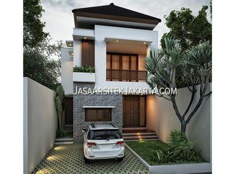 desain rumah luas 280 m2 bapak erik jakarta (with images