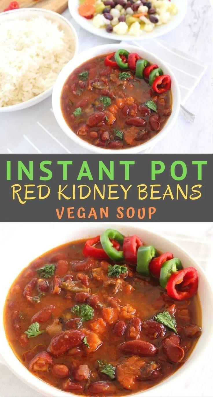 Instant Pot Red Kidney Beans Soup V Recipe In 2020 Kidney Bean Soup Recipes With Kidney Beans Kidney Beans
