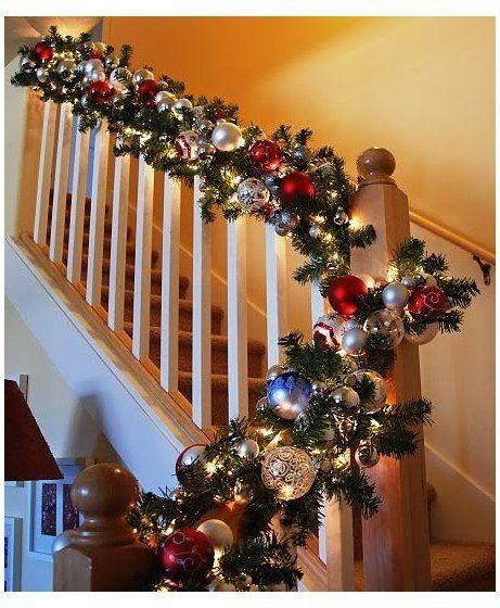 christmas glass staircase