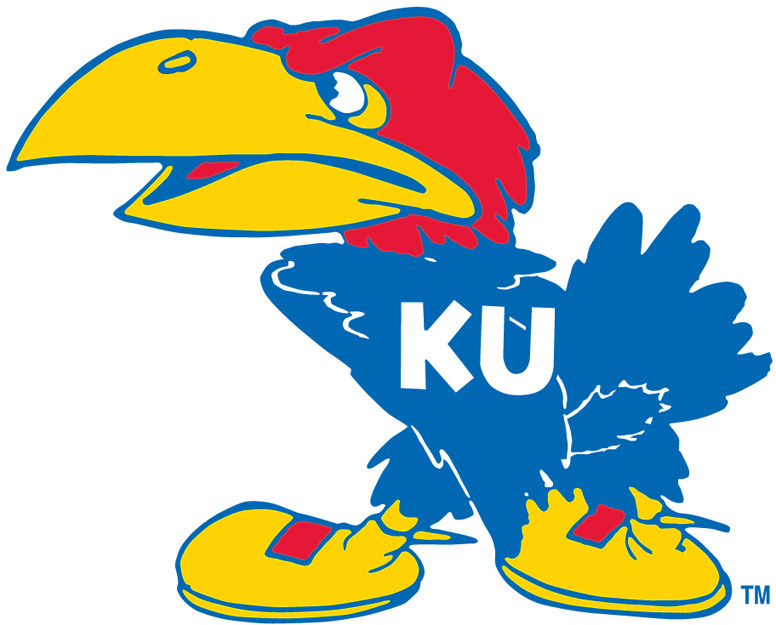 Kansas Jayhawks Primary Logo Kansas jayhawks, Rock chalk