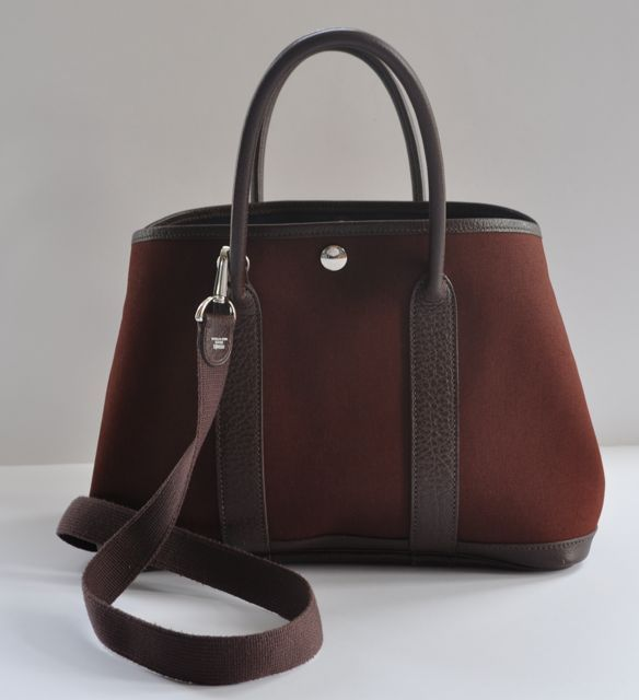 139429ee872 Hermes: Authentic Hermes Marron Garden Party Bag With Strap 30cm | MALLERIES