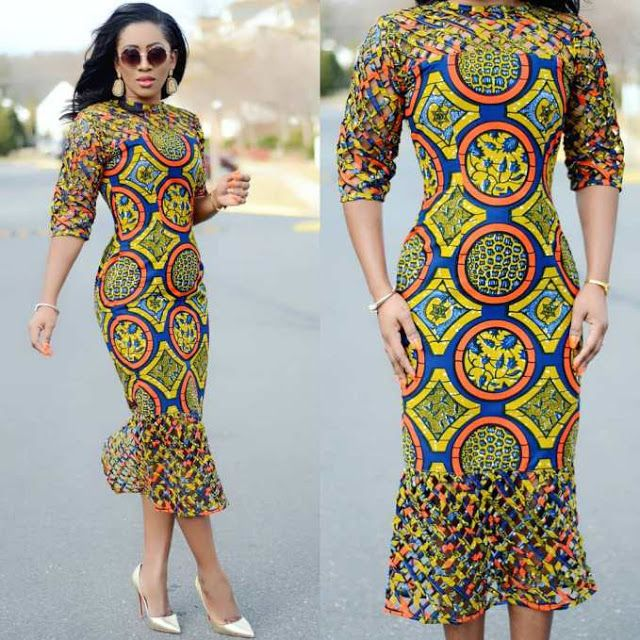 Fittest Ankara Long Gown Styles 2018 Slim And Fittest For African Women Dezango Fashion Zone