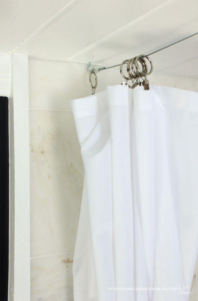 Master Bathroom Shower Cable System Corner