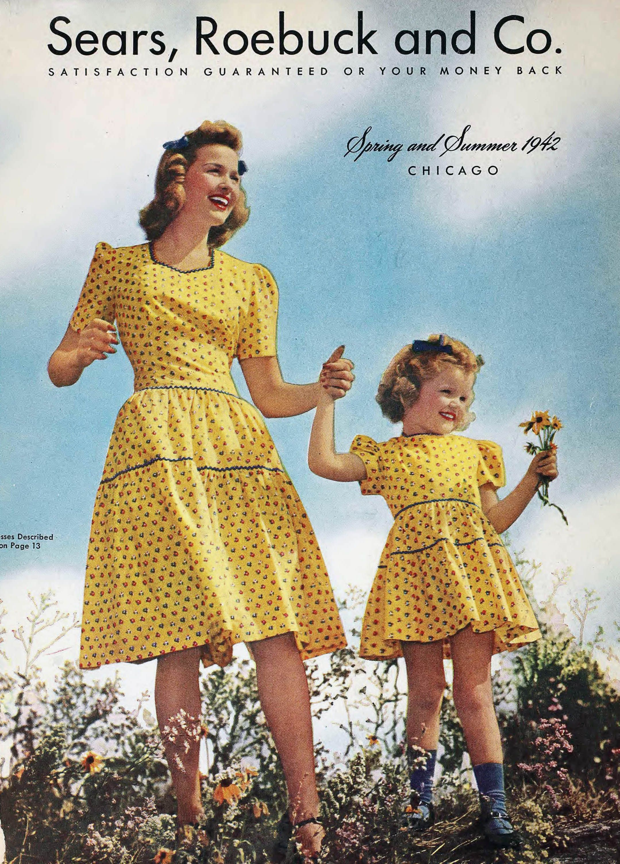 Sears Christmas Catalog 2020 1942 Sears Spring Summer Catalog in 2020 | Decades fashion, Mother