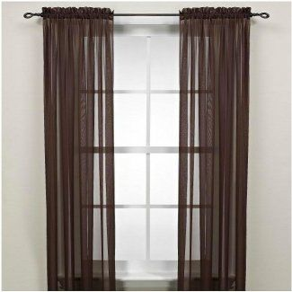 Chocolate Brown Sheer Curtains Curtains Window Door Curtains