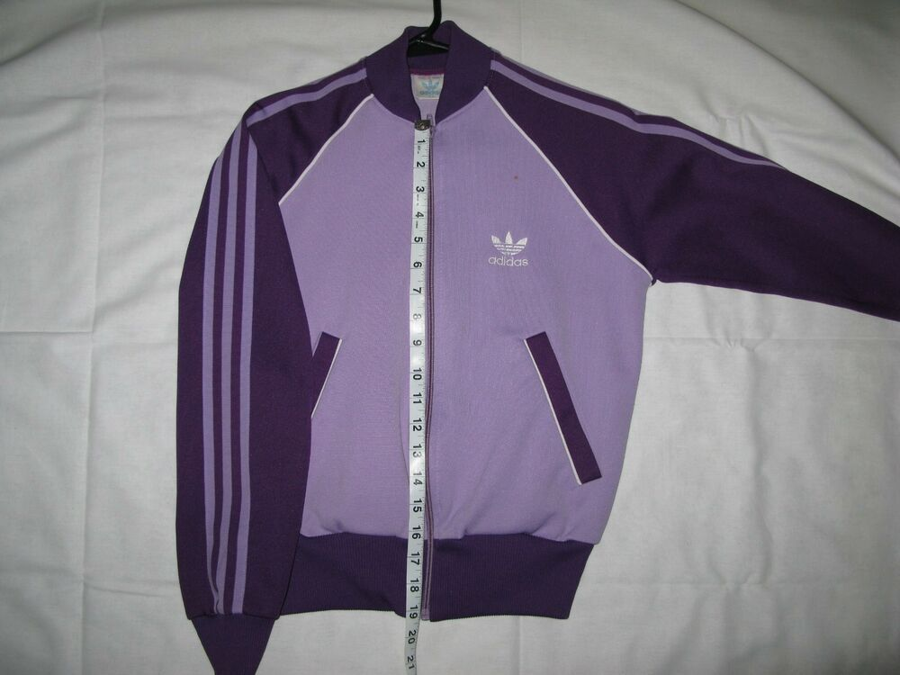 Womens Vintage Retro Adidas Track Jacket Small Purple